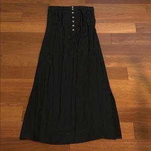 Barney's NY silk midi dress with side slip